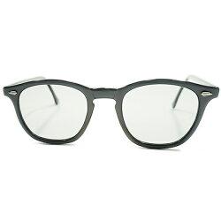 超GEEKALLペールグレー1950sUSA製MADEINUSAストライプダイヤ仕様ARNEL同型ホーンリムウェリントンフレームサングラスsize48/22ヴィンテージメガネ眼鏡A4331