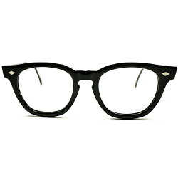 正統派ゴールデンエイジCLASSIC1950s-1960sUSA製MADEINUSAアメリカンオプティカルAOAMERICANOPTICAL極艶黒セルKEYHOLEブリッジ菱形ダイヤヒンジウェリントンフレームヴィンテージメガネ眼鏡A4389