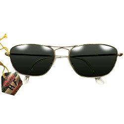 HIGHQUALITY最高ランクタグ付デッドストック1950sフランス製MADEINFRANCE変形ブリッジ本金張りゴールドメタルAVIATORサングラスアビエーターG-15系ガラスレンズ入ヴィンテージメガネ眼鏡A4435