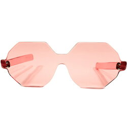 ド級CRAZYARTPIECEデッドストック1950s-1960sUSA製MADEINUSAストロベリーPINK完全芯なしALL一枚セル仕立OCTAGONオクタゴンフレームヴィンテージメガネ眼鏡A4479