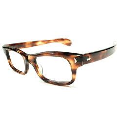 高精度1950sデッドストックフランス製MADEINFRANCEDEMIAMBER鼈甲柄古典的サイドビュー芯なしWダイヤテンプルモダンシルエットウェリントンヴィンテージメガネ眼鏡A4528