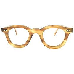 フラットLENS適応&超GOODSIZEデッドストック1950sフランス製MADEINFRANCEFLATCUTTING薄型フロントアーネルシェイプPANTOフレーム鼈甲柄ヴィンテージメガネ眼鏡A4570