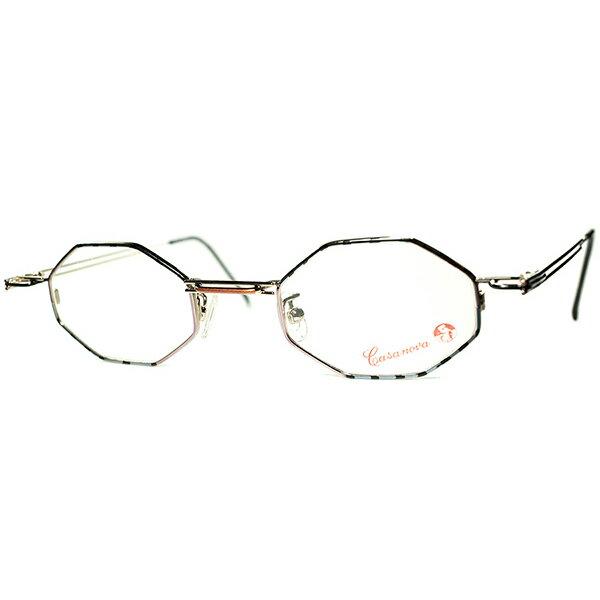 眼鏡・サングラス, 眼鏡 TRICKY 1980s-90s Italy Casanova OCTAGON 160; 160; a6131