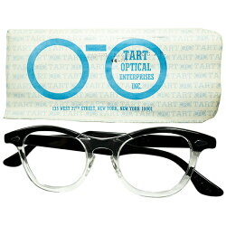 正真正銘USA製オリジナル1950s-60sデッドストックTARTOPTICALタートオプティカルTARTARNELタートアーネルsize44/20BLACKWOODビンテージヴィンテージ眼鏡メガネa7381