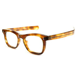 OLDSTYLE!!デッドストック1950sフランス製MADEINFRANCE極太ストレートTEMPLE仕様ウェリントンフレームAMBERヴィンテージメガネ眼鏡A2535