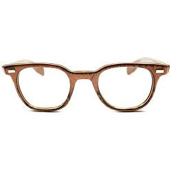 超希少GOODSIZE!1950sアメリカ製MADEINUSABRONZEGRANITE極太テンプルARNELSHAPEウェリントンヴィンテージメガネ眼鏡実寸44/22A2734