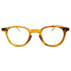 極上GOODSIZE1940sフランス製MADEINFRANCEアシンメトリーTEMPLE複雑鼈甲柄NARROWアーネルSHAPEパントフレームPANTOヴィンテージメガネ眼鏡A2790