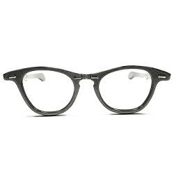 超GEEKゾーンGOODSIZEデッドストック1950s-1960sUSA製MADEINUSATARTOPTICALLIZSTYLE同型折畳式ウェリントンヴィンテージメガネ眼鏡A2894