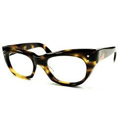 OLDオリバーゴールドスミスSTYLE1940s-1950sHANDMADE英国製MADEINENGLAND立体CUTTING3スターヒンジ極太ウェリントンヴィンテージメガネ眼鏡イギリスUKA3123