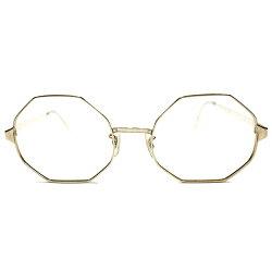 アメリカ物高純度OCTAGON1960s-1970sUSA老舗LIBERTYOPTICALUSA製MADEINUSA本金張り1/1012KGFBIGオクタゴンフレームヴィンテージメガネ眼鏡A3274