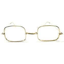 1900s初頭アンティークSTYLE1960s-1970sデッドストックアメリカ製MADEINUSA1/2012KGF本金張りSQUAREスクエアヴィンテージメガネ眼鏡A3295