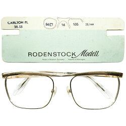 台紙付デッドストック1950s-1960s西ドイツ製MADEINWESTGERMANYオリジナルローデンストックRODENSTOCK名作モデルカールトンCARLTON本金張り54/18ヴィンテージメガネ眼鏡A3476