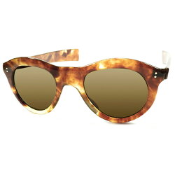 MYSTIC超レア生地&頂上スペックデッドストック1940sフランス製MADEINFRANCE複雑琥珀柄FLAT激薄リム極太ストレートテンプルパントフレームPANTO薄型ガラスレンズ入ヴィンテージメガネ眼鏡サングラスA3838