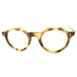 黄金期定番シェイプデッドストック1950sフランス製MADEINFRANCEオリジナルクラウンパントCROWNPANTO鼈甲柄ヴィンテージメガネ眼鏡GOODSIZEA3898