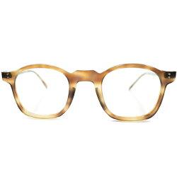 グッドシェイプ&超GOODSIZEデッドストック1950sフランス製MADEINFRANCE美色MILDAMBERフレンチアーネルフレーム実寸size40/24ヴィンテージメガネ眼鏡A4105