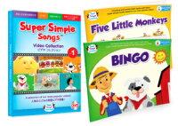 送料無料!【SuperSimpleSongsDVDビデオコレクション1・絵本2冊セット】楽しい子ども英語!英語絵本英和絵本