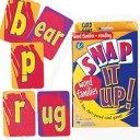 送料無料!【くっつけて学んで! フォニックス & リーディーングカードゲーム】Snap It Up! Word Families & Reading Card Game