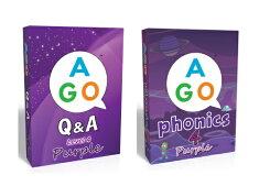 送料無料!【AGOQ&Aパープル+AGOフォニックスパープルカードゲームハイレベルセット】AGOQ&APurple+AGOPhonicsPurpleset楽しい英語カードゲーム!家族全員、英語であそぼう!こども英語をFUNにしよう!
