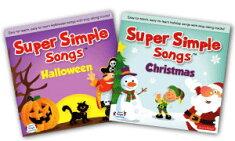 送料無料!【SuperSimpleSongsHalloween+ChristmasCD2枚セット】スーパーシンプルソングズハロウィン+クリスマス