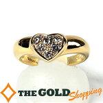 ティファニー/Tiffany&Co.:ハートパヴェダイヤリング750YG#114gジュエリー・アクセサリー指輪・リング中古【中古】