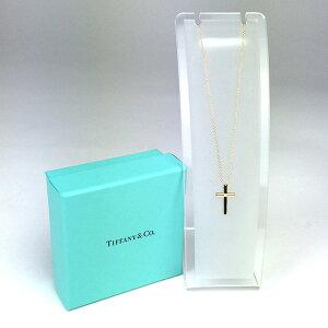 ティファニー/Tiffany&Co.:ドッツクロスネックレス750YGダイヤ1Pジュエリー・アクセサリーネックレス・ペンダント【】
