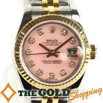 ロレックス/ROLEX:デイトジャストレディースピンクオパール179173OPG時計腕時計レディース[女性用]中古【中古】