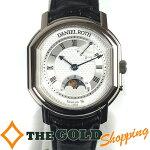 ダニエル・ロート/DanielRoth:手巻きパワーリザーブムーンフェイズホワイトゴールドO-357時計腕時計メンズ[男性用]中古【中古】