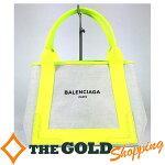 バレンシアガ/Balenciaga:ネイビーカバスSキャンバストート339933バッグトートバッグ中古【中古】