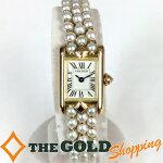 カルティエ/Cartier:タンクミニパールブレスレット750YG時計腕時計レディース[女性用]中古【中古】