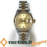ロレックス/ROLEX:デイトジャストレディスレディースシャンパン文字盤SS/YG10PダイヤF番79173G時計腕時計レディース[女性用]中古【中古】