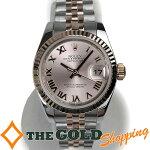 ロレックス/ROLEX:デイトジャストローマンインデックスピンク文字盤750PGランダムOH済179171時計腕時計レディース[女性用]中古【中古】