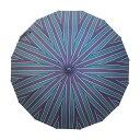 和傘 晴雨兼用 長傘 傘 かさ 16本骨 和風傘 雨傘 バンブーハンドル 和風 和柄 レディース メンズ ユニセックス 送料無料 ブランド UVカット プレゼント 【和柄テキスタイル天然竹16本長傘-子持縞 御納戸】
