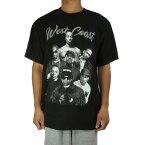 メンズ TシャツWEST COAST TEEウェストコースト TシャツBLACK(ブラック)黒 白 TSHIRTS ロサンゼルス HIPHOP DRDRE SNOOP EASY-E ICE CUBE 2PAC LA プリント