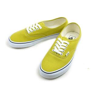 バンズ VANS ヴァンズAUTHENTIC オーセンティックCRESS GREEN/TRUE WHITE(クレスグリーン/トゥルーホワイト)レディース メンズ スニーカー 白 黄緑 靴
