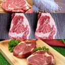 自宅でステーキバイキング!バーベキューの材料・肉!リブロース食べ比べセット 3種類6枚+海塩グロッソのおまけ付 牛肉ステーキ(焼肉 焼き肉) セット(バーベキュー BBQ)お中元・ギフト