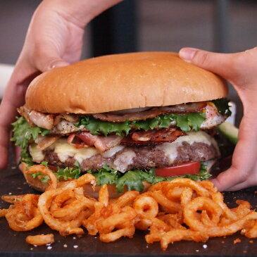 特大・手作りハンバーガーセット【パウンダー】びっくりサイズの1ポンドバーガー!お得さ福袋級!