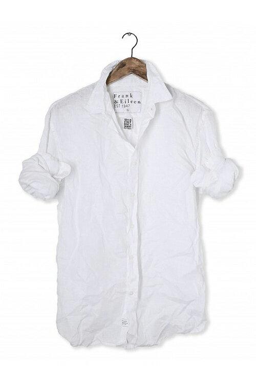 【正規取扱店】Frank&Eileen PAULメンズシャツ WHL LINEN WHITE (フランクアンドアイリーン ポール):THE PARK