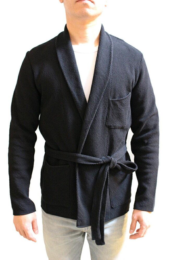 LARDINI ラルディーニ 17S/S ショールカラーダブルニットジャケット BLACK:THE PARK