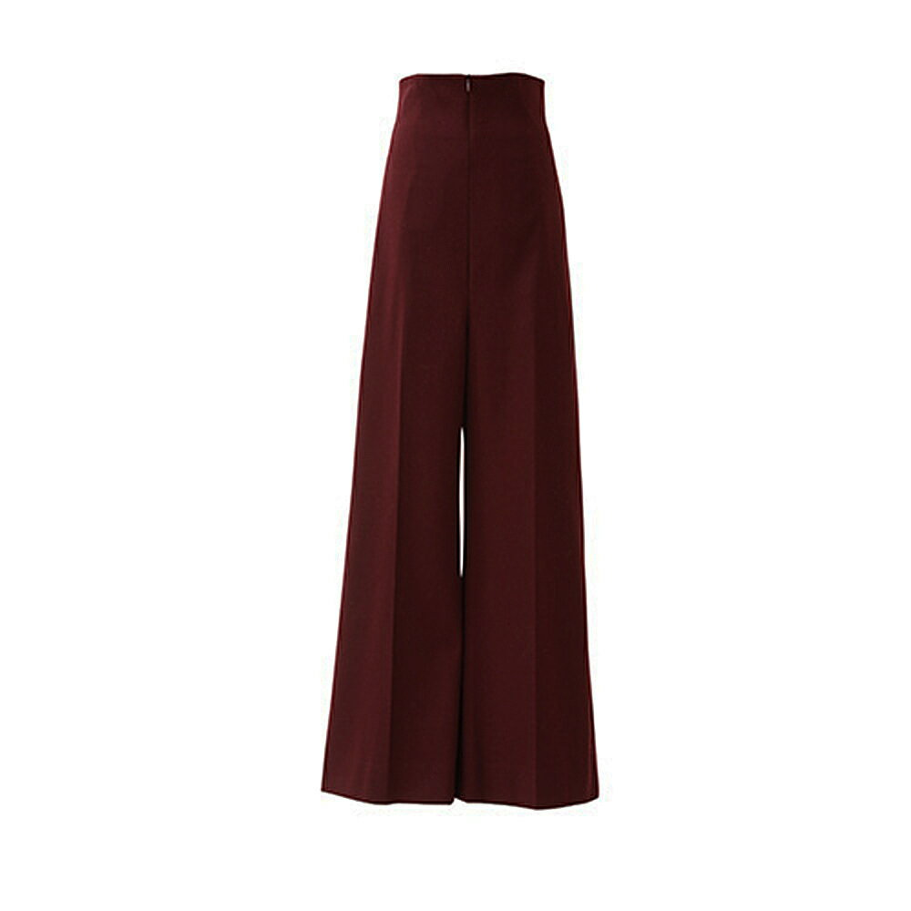 beautiful people ビューティフルピープル 17-18A/W silky ponti cotton wide pants bordeaux:THE PARK