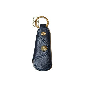 GLENROYAL Glen Royal SHOE HORN POCKET SAFFIANO Pocket Shoe Horn Saffiano DARK BLUE
