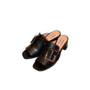 BALLY Barry JANAYA Mule sandals 5.5cm heel BLACK