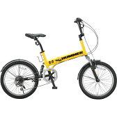 20インチ 6段変速 Wサスペション付 折畳み自転車 HUMMER ハマー FDB206 Wsus 【代引決済不可】