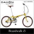 【送料無料】DAHON ダホン Boardwalk i5 ボードウォーク イエロー 20インチ 折りたたみ自転車 2017年モデル