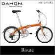 【送料無料】DAHON ダホン Route ルート キャロットオレンジ 20インチ 折りたたみ自転車 2017年モデル