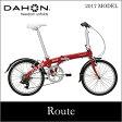 【送料無料】DAHON ダホン Route ルート ルビーレッド 20インチ 折りたたみ自転車 2017年モデル