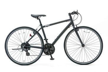 SHIONO/塩野自転車 700XL-500-K02 SITE AL/サイトAL 700C クロスバイク フラットブラック(7809) スポーツバイク 自転車本体