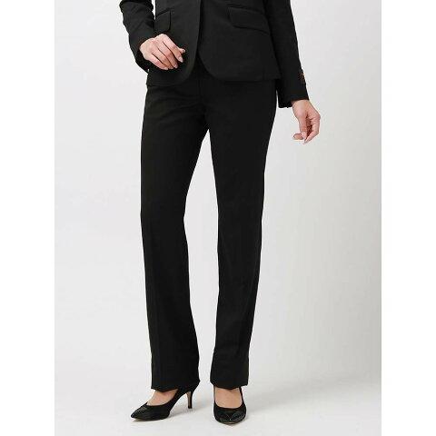 スーツ/レディース/セットアップ/通年/SUPER110'sウール セミワイドパンツ/Fabric by CANONICO/ ブラック/ユニバーサルランゲージ