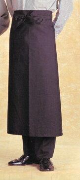 ソムリエエプロン90cm丈 エプロン 黒【2枚以上お買い上げでまとめ買い割引】(ギャルソンエプロン カフェエプロン、前掛け、ギャルソンエプロン)