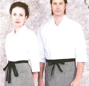 高級バーバリー素材使用シンプルであきのこない激安シャツ襟付き比翼仕立て七部袖シャツ(バー...