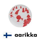【aarikka冬の日★プレート】アーリッカ|フィンランド|北欧|インテリア|雑貨|置物|陶磁器|お皿|さら|食器|磁器|ナチュラル|プレゼント|デザイン|おしゃれ|ヨーロッパ|クリスマス|サンタクロース|赤|雪|冬|